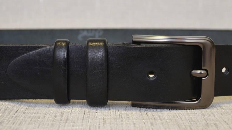Ремень из натуральной кожи Чёрный никель 159, фото 2