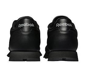 Кроссовки Reebok Classic Leather Black 2267 Черный, фото 2