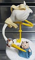 """Авторская сахарная фигура """"Аист с младенцем"""" Галетте -01408"""