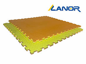 "Мат-татами Ланор ""ласточкин хвост"" 80 кг/м3 20мм оранжево-желтые Т1"