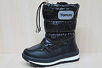Сапожки дутики на мальчика, теплая детская зимняя термо обувь Томм р.23