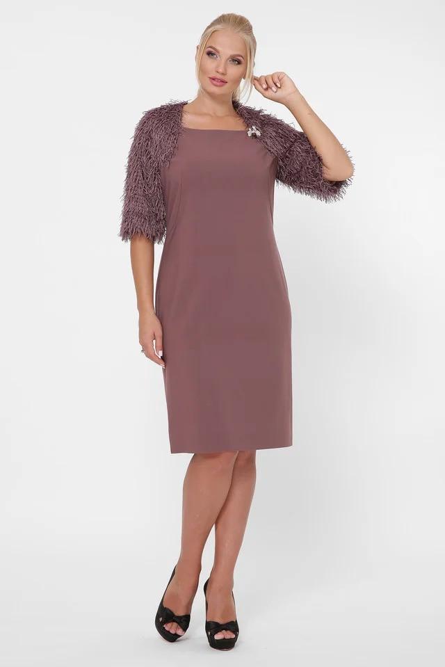 Красивое платье Джаз шоколад (50-56)