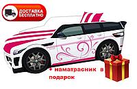 Кровать детская PREMIUM, Кровать машина для девочки с матрасом Премиум Land Rover