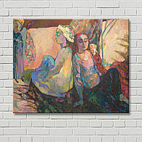Дизайн комнаты Люди на картине Кумановська Настенный декор Картина Картина на холсте Декорация стен