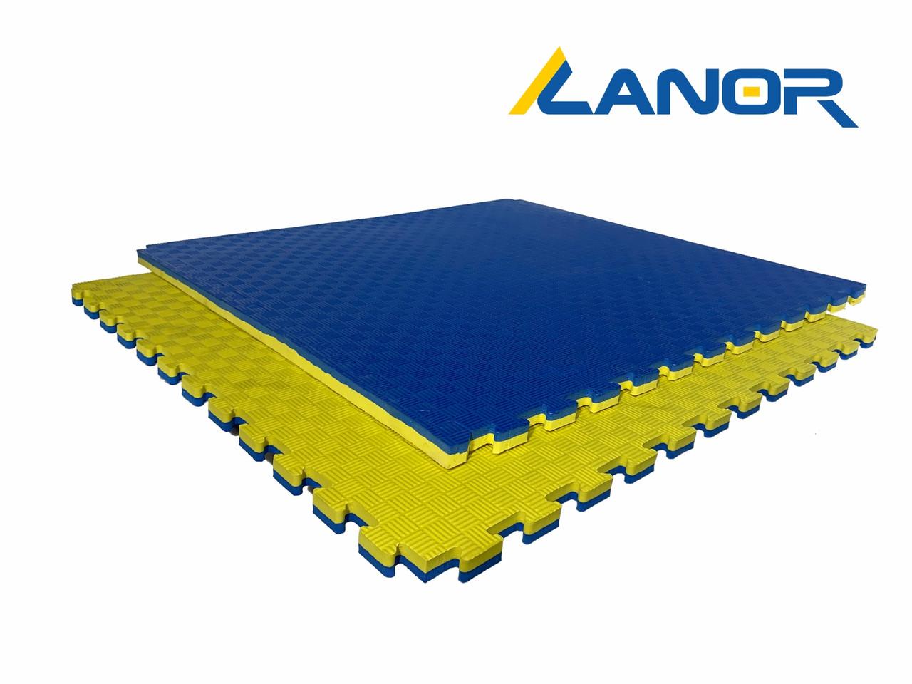 "Мат-татами Ланор ""ласточкин хвост"" 120кг м3 30мм желто-синий Т2"
