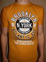 Футболка мужская RBS, накатка стрейч коттон BROOKLYN 007 \ купить футболку мужскую оптом