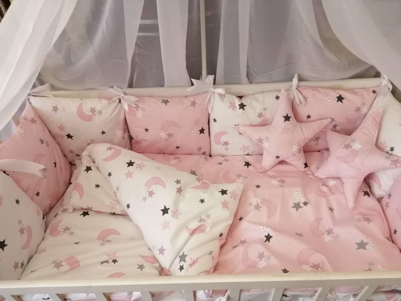 Детское постельное бельё в кроватку ТМ Bonna Перфект Розовое