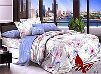 ✅ Двуспальный Евро комплект постельного белья (Поплин) TAG 1714