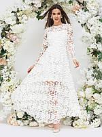 Вечернее платье белое  в пол с открытой спиной   44 46 48 +