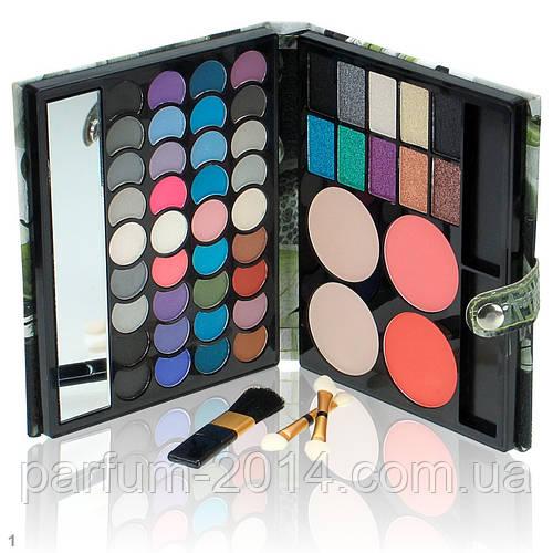 Подарочный набор   палитра декоративной косметики с зеркалом для макияжа: тени, румяна, пудра - фото 1
