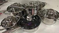 """Набор кастрюль ПРЕМИУМ КЛАССА """"Banoo"""" 12 предметов, Немецкое Качество, набор посуды,."""