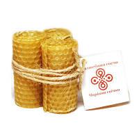 Свечи восковые из медовых сот ручной работы Семейный Оберег