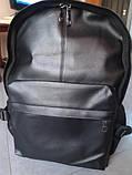 Рюкзак міський чоловічий. Чоловічий рюкзак для ноутбука Чорний, фото 8
