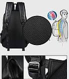 Рюкзак міський чоловічий. Чоловічий рюкзак для ноутбука Чорний, фото 7