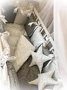 Детское постельное белье в кроватку ТМ Bonna Elite Серое в звездочку, фото 2