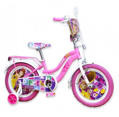 Детский двухколесный стальной велосипед.Велосипед детский на 16 дюймов. Ярко розовый