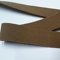 Резинка для одежды, декоративная репсовая, 20 мм, светло-коричневая матовая