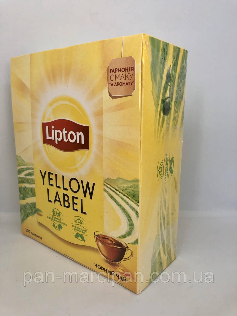 Чай чорний пакетований Lipton 100 пак