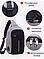 Городская сумка-бананка антивор через плечо BOBBY с защитой от карманников и USB, фото 2
