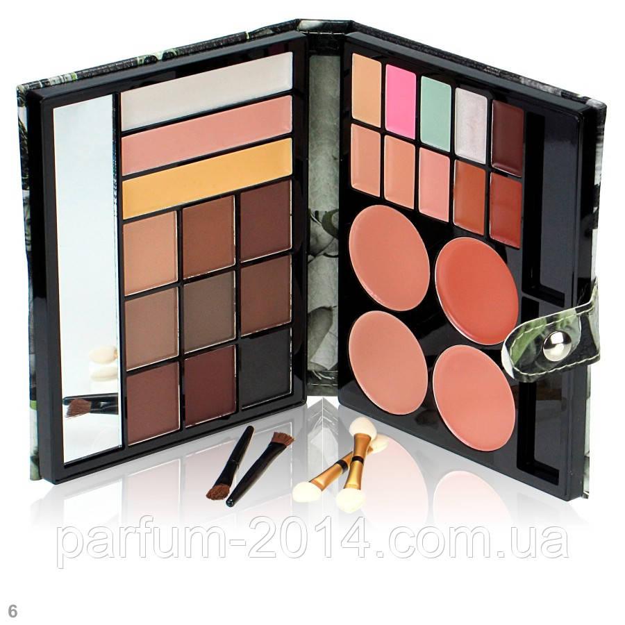 Подарочный набор | палитра декоративной косметики с зеркалом для макияжа: тени для бровей, консилер, хайлайтер