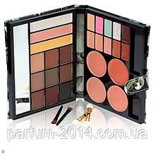 Подарочный набор   палитра декоративной косметики с зеркалом для макияжа: тени для бровей, консилер, хайлайтер