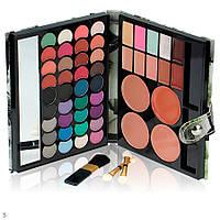 Подарочный набор палитра декоративной косметики с зеркалом для макияжа: матовые тени, консилеры