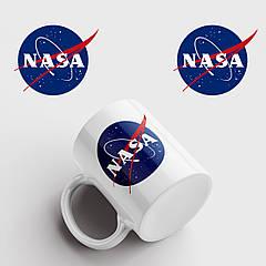 Чашка з принтом NASA. НАСА. Чашка з фото