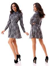 Расклешенное платье в клетку, фото 2