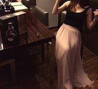 Шифоновая юбка в пол, 95см