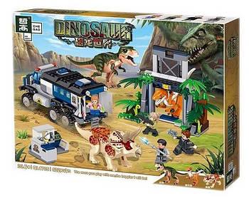 """Конструктор QL 1705 (Аналог Lego Jurassic World) """"Трицератопс и Тиранозавр"""" 522 детали"""