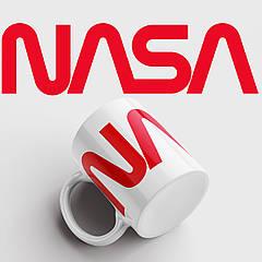 Чашка з принтом NASA (red). НАСА. Чашка з фото