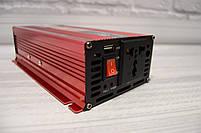 Инвертор 12/220 с LCD дисплеем 1000W Преобразователь Напряжения AC/DC UKC KC-1000D, фото 4