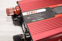 Инвертор 12/220 с LCD дисплеем 1000W Преобразователь Напряжения AC/DC UKC KC-1000D, фото 6