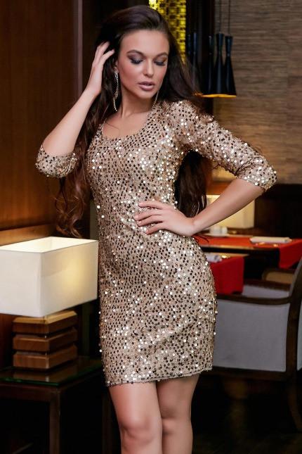 Платье 1275.3895 золото (S, M, L, XL)