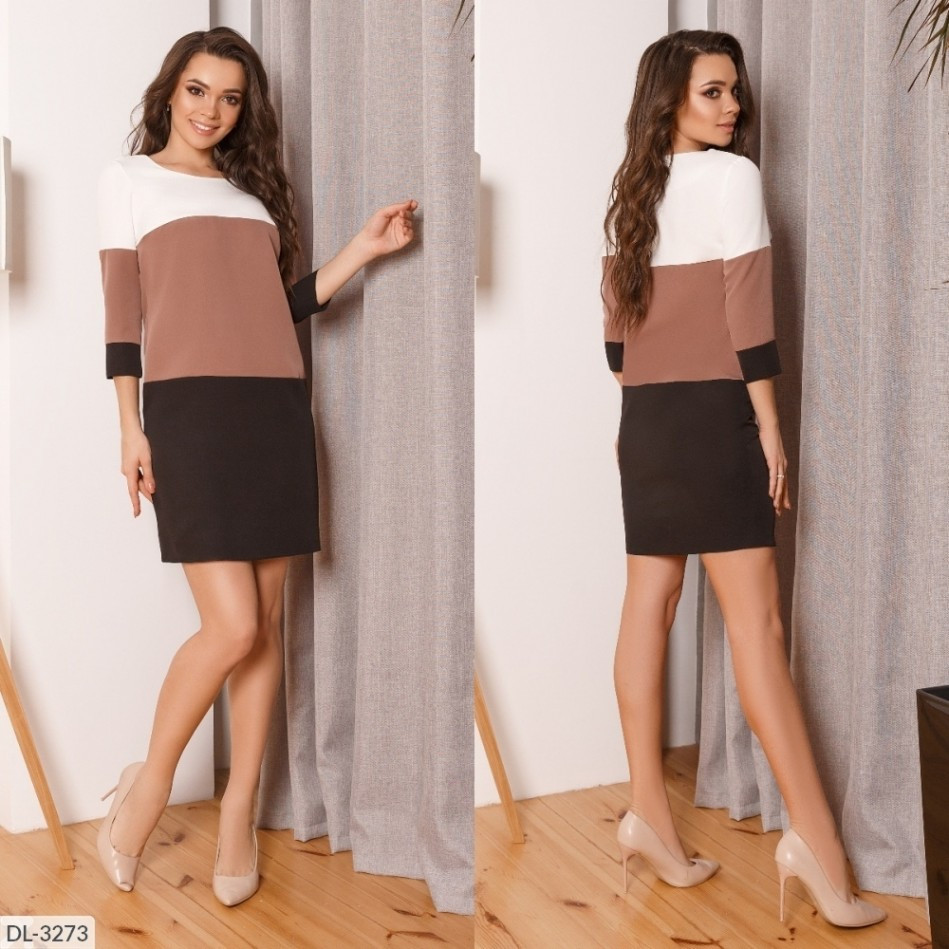Сукня ділова з костюмної тканини