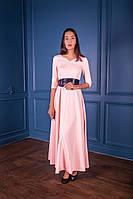 Вечернее светлое платье на длинный рукав (XS/S, S/M, M/L)