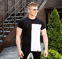 Мужская стильная футболка Lobster Белый с черным, M