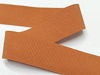 Резинка для одежды, декоративная репсовая, 25 мм, оранжевая, матовая