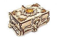 Механічні 3-D пазли-дерево UGEARS Бурштинова скринька / Механические 3d пазлы Югирс, модель Янтарная шкатулка