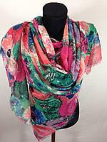 Яркий широкий шарф (цв 2)