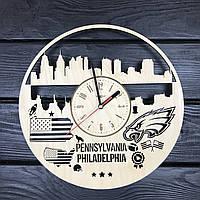 Дизайнерские часы на стену «Филадельфия, Пенсильвания», фото 1