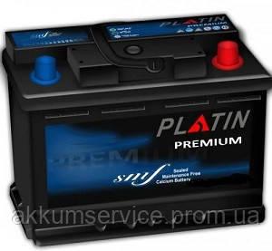Акумулятор автомобільний Platin Premium 75AH R+ 750A