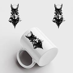Кружка с принтом Batman Art. Бетмен. Чашка с фото
