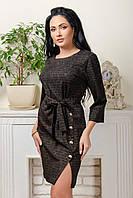 Платьедля девушек с поясомразмер44-48,черного цвета
