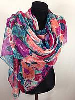 Широкий шарф в цветах (цв 4)