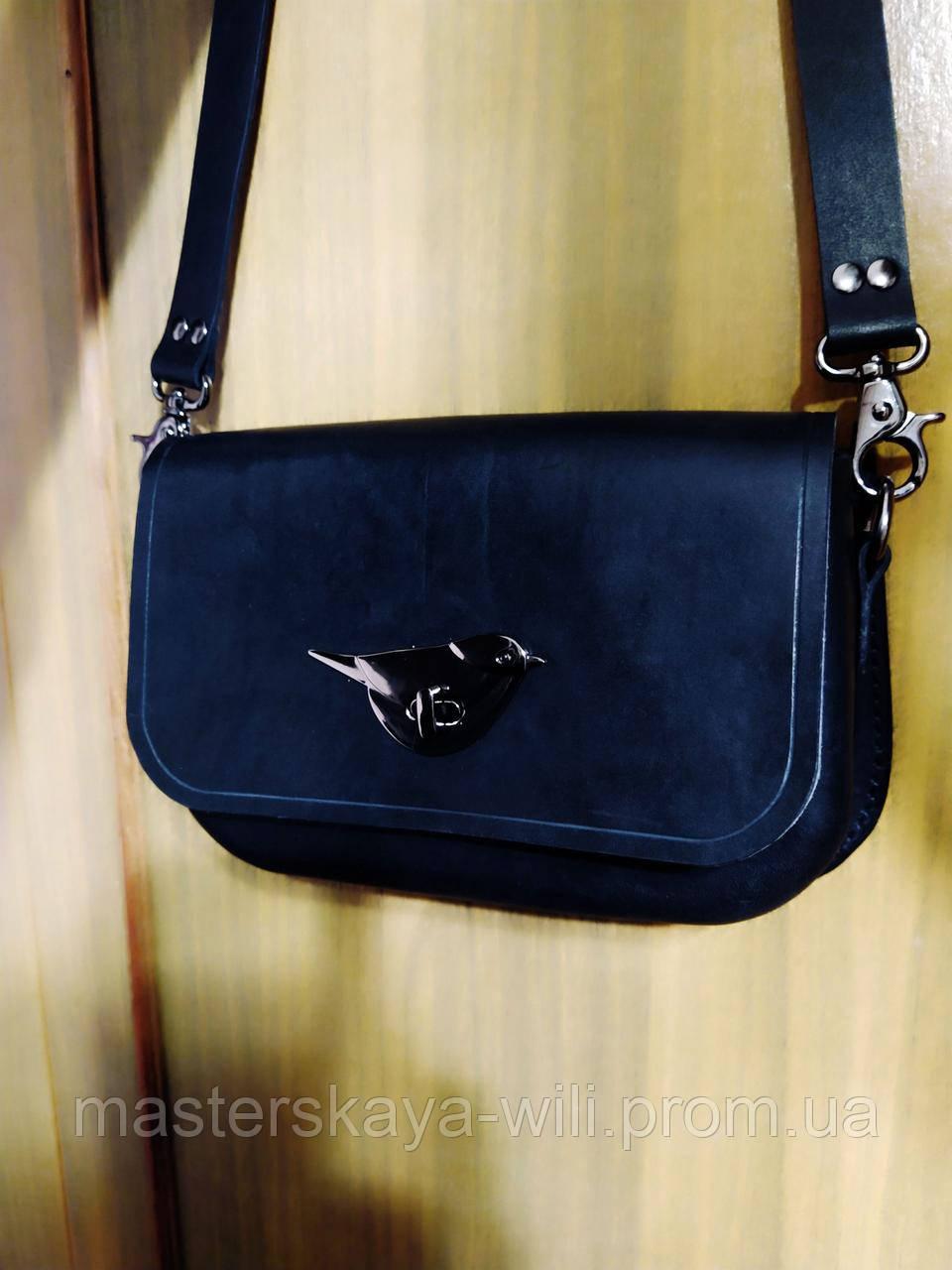 Женская кожаная сумочка ручной работы   ''Итальянка '' (с ремешком)