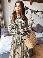 Женское стильное длинное платье «Валенсия»