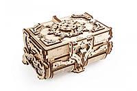 Механічні 3-D пазли UGEARS Антикварна скринька / Механические 3d пазлы Югирс, модель Антикварная шкатулка
