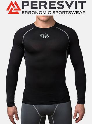 Компрессионная футболка Peresvit Air Motion Compression Long Sleeve T-Shirt Black Grey, фото 2
