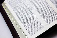 Біблія (червоно-коричнева, шкірзам, золото, індекси, блискавка, 13х18), фото 2